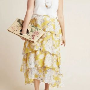 Anthropologie Mosier Tiered Maxi Skirt 26W NWT